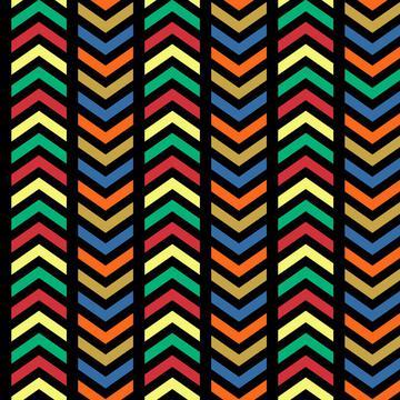 African Art Ziggity Zags