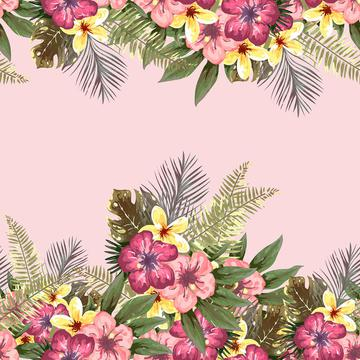 Tropical floral print