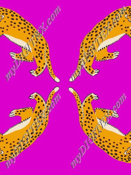 four leopards purple