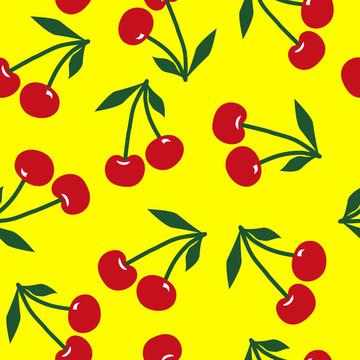 Cherries on yellow, Cherry fruit