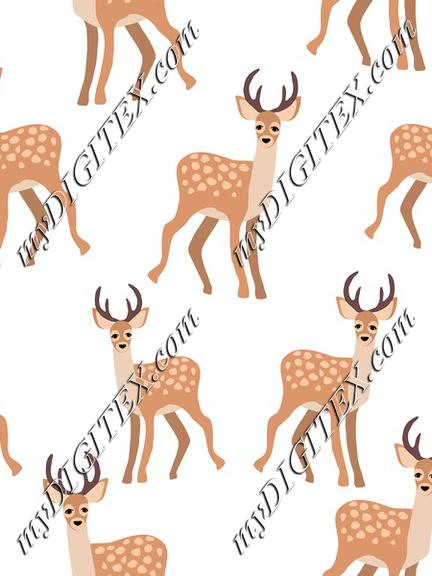 Deer on white
