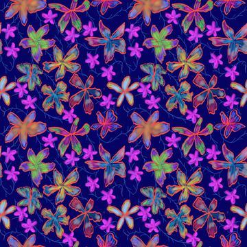 Color Block Flowers