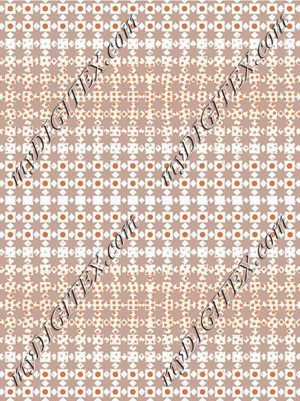 Geometric Orange Brown